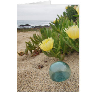 Float with yellow ice plant greeting card