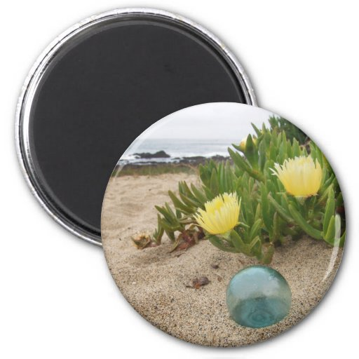 Float with yellow ice plant magnets