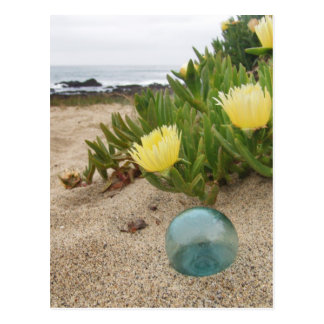Float with yellow ice plant postcards