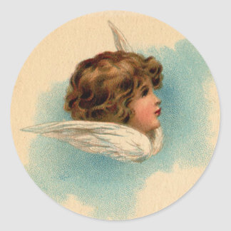 Floating Angel Classic Round Sticker