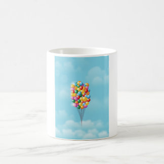Floating Balloons up and away. Coffee Mug