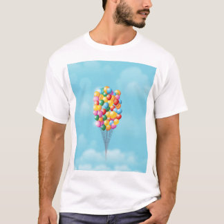 Floating Balloons up and away. T-Shirt