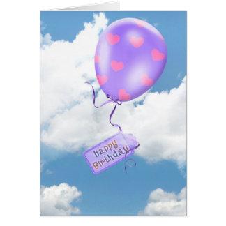 Floating Birthday Balloon Card