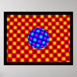 Floating Blue Globe Poster