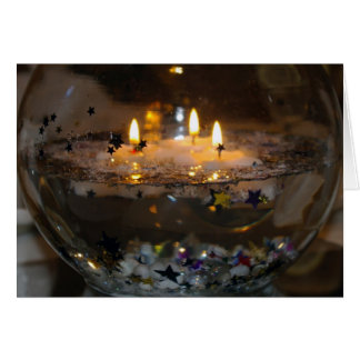 Floating Candles blank card