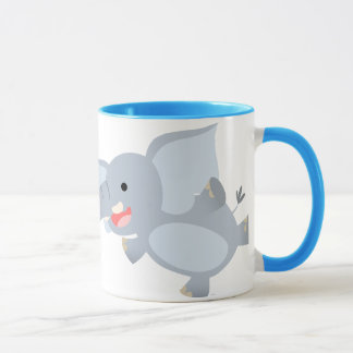 Floating Cartoon Elephant Mug