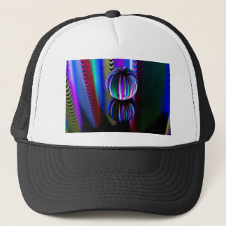 Floating crystal ball trucker hat