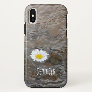 Floating Daisy And Name iPhone X Case