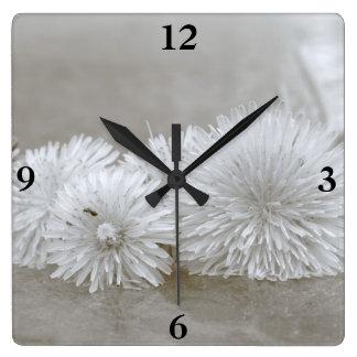 """Floating Dandelions on """"Water"""" Clock"""