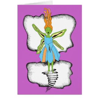 Floating Fairy Greeting Card