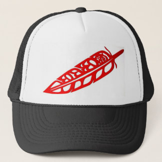 Floating Feather Trucker Hat