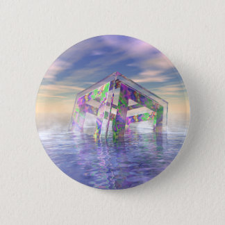 Floating Fractal 6 Cm Round Badge