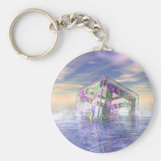 Floating Fractal Key Ring