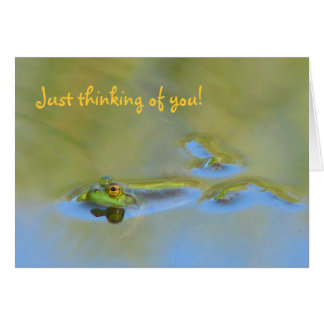 Floating Frog Card Thinking of you!