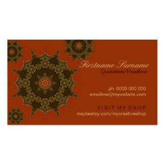 Floating Geometric Stars Business Cards