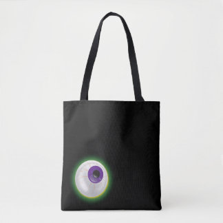 Floating Glowing Eyeball Eye Halloween Black Bag