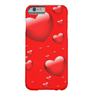 Floating Hearts Pattern Barely There iPhone 6 Case