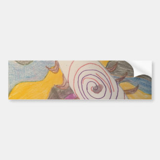Floating in The Rainbow Void Bumper Sticker