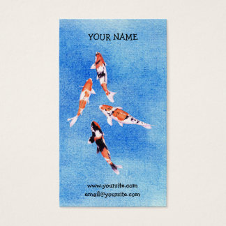 Floating Koi blue Business Card