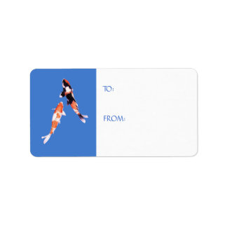 Floating Koi Gift Tag Label Address Label