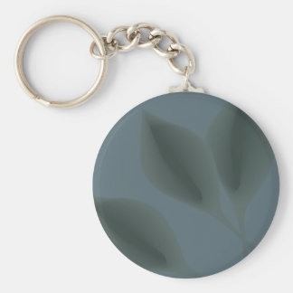 Floating leaves pool eco green garden earth day basic round button key ring