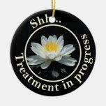 Floating Lotus Flower Do Not Disturb Ornament