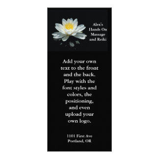 Floating Lotus Flower Rack Card