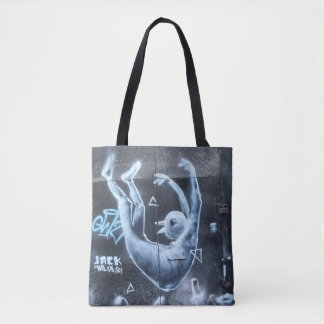 Floating Man Graffiti Tote Bag
