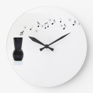 Floating Musical Notes Large Clock