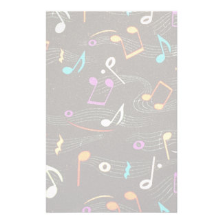 Floating Notes Fabric Print Personalised Stationery