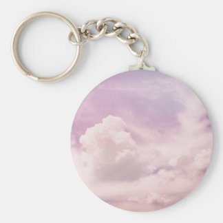 Floating on Fluffy Purple Clouds Key Ring