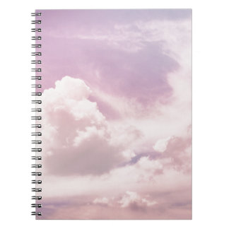 Floating on Fluffy Purple Clouds Spiral Notebook