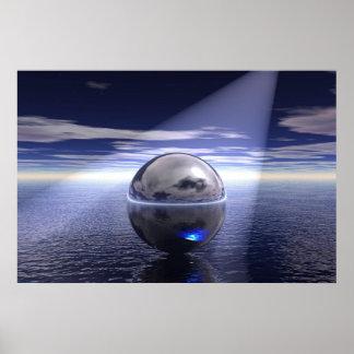 Floating Orb Poster