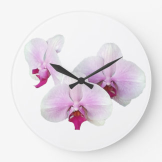 Floating Orchids Clock