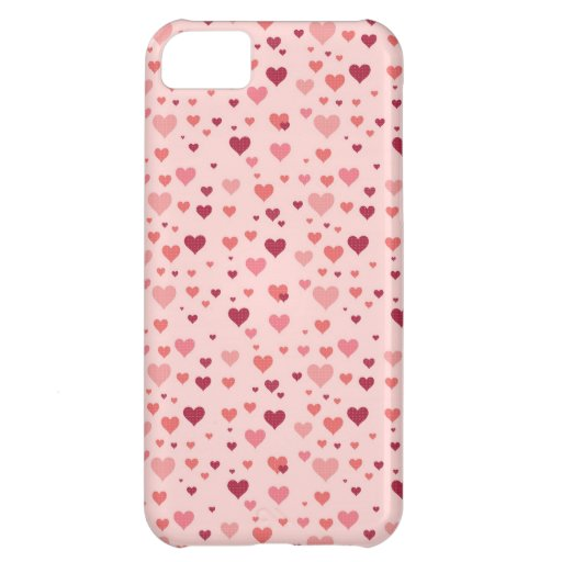 Floating Pink Hearts Valentine's Day Pattern iPhone 5C Covers