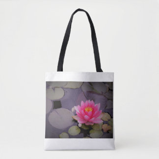 Floating Pink Water Lily Tote Bag