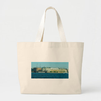 Floating restaurant Flying Dutchman Spa Ship Large Tote Bag