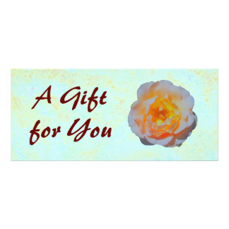 Floating Rose Gift Certificate template Custom Rack Card
