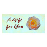 Floating Rose Gift Certificate template Full Color Rack Card