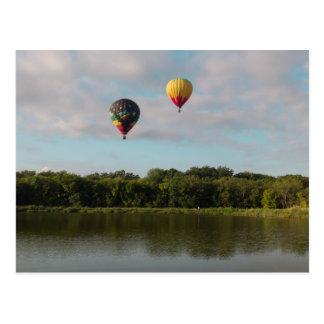 Floating silk postcard