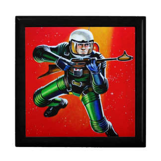 FLOATING SPACEMAN LARGE SQUARE GIFT BOX