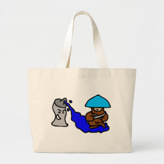 Floating Spray Paint Guy Large Tote Bag