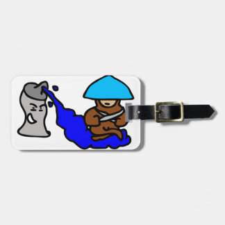 Floating Spray Paint Guy Luggage Tag