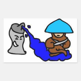 Floating Spray Paint Guy Rectangular Sticker