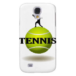 Floating Tennis Badge Samsung Galaxy S4 Cases