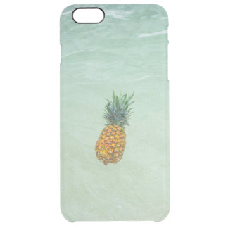 Floating / Tropical Beach Accent Pineapple Clear iPhone 6 Plus Case