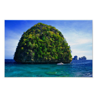 Floating Tropical Islands Poster