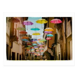 Floating Umbrellas Postcard