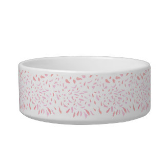 Floating Watercolour Pink Petals Pet Bowl