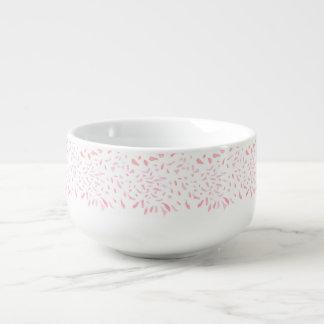 Floating Watercolour Pink Petals Soup Mug